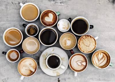 انواع مختلف از نوشیدنی قهوه