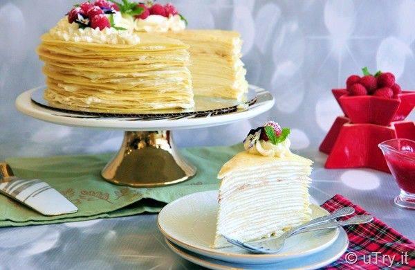 کیک رویایی کرپ وانیلی