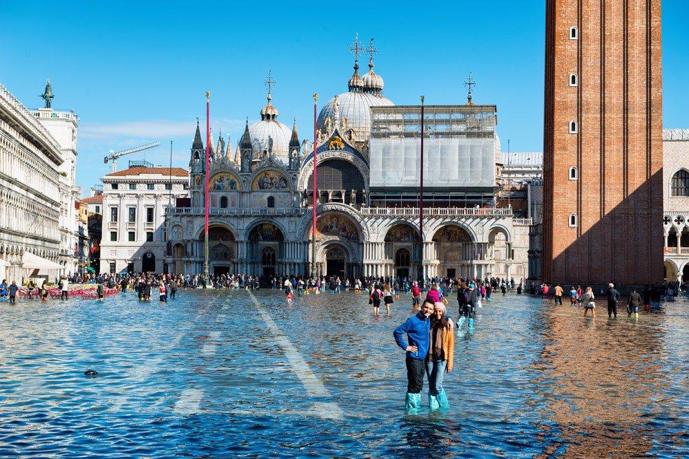 بالا آمدن سطح آب و پایین آمدن آمار جمعیت شهر ونیز
