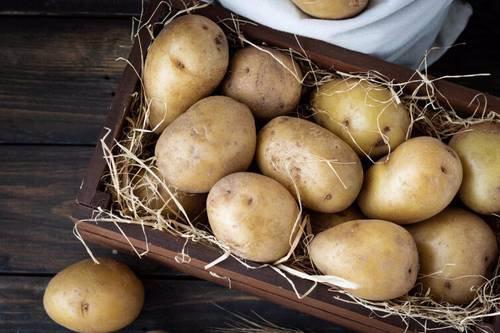 از کاغذ یا کاه برای زیر سیب زمینی ها استفاده نمایید.