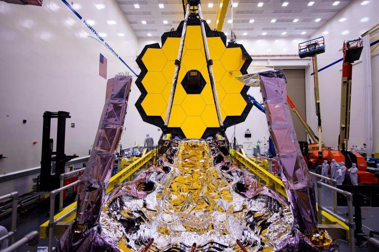بسته بندی سپر خورشیدی تلسکوپ جیمز وب ناسا