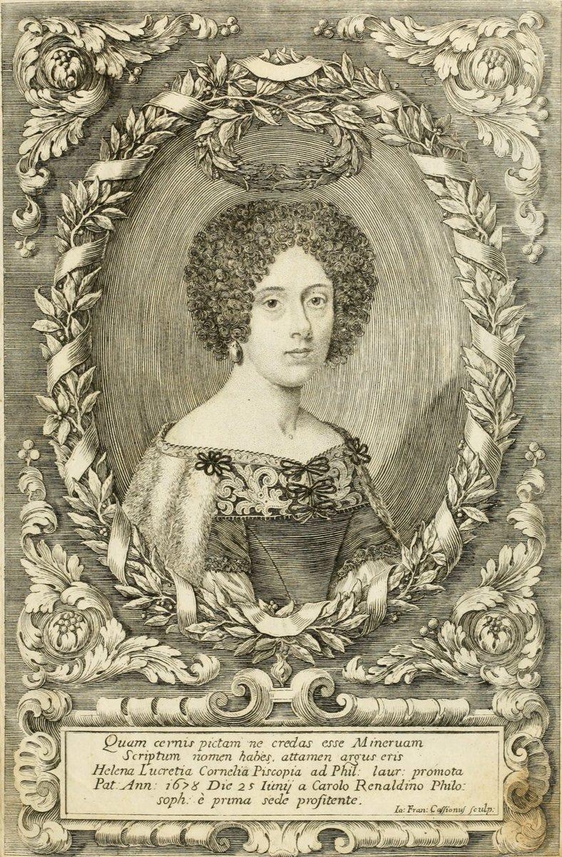 ELENA LUCREZIA CORNER PISCOPIA اولین زن فارغ التحصیل در جهان