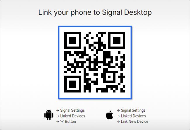 کد QR به هنگام اتصال تلفن به دسکتاپ