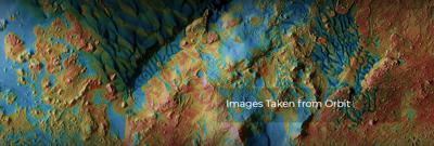 تپه های شنی آبی در سیاره سرخ