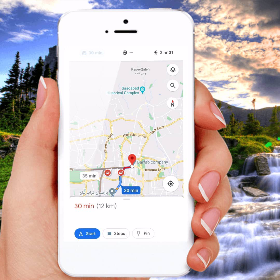 استفاده از مسیریابی گوگل مپ
