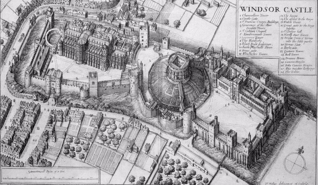 قلعه وینزر در سال 1658.