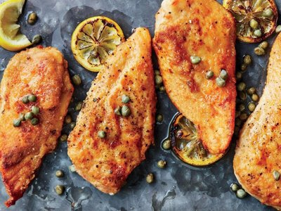 طرز تهیه مرغ پارسلیز با ماکارونی