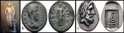 سکه های باستانی متعلق به روم و یونان همراه با نقش مار - 1