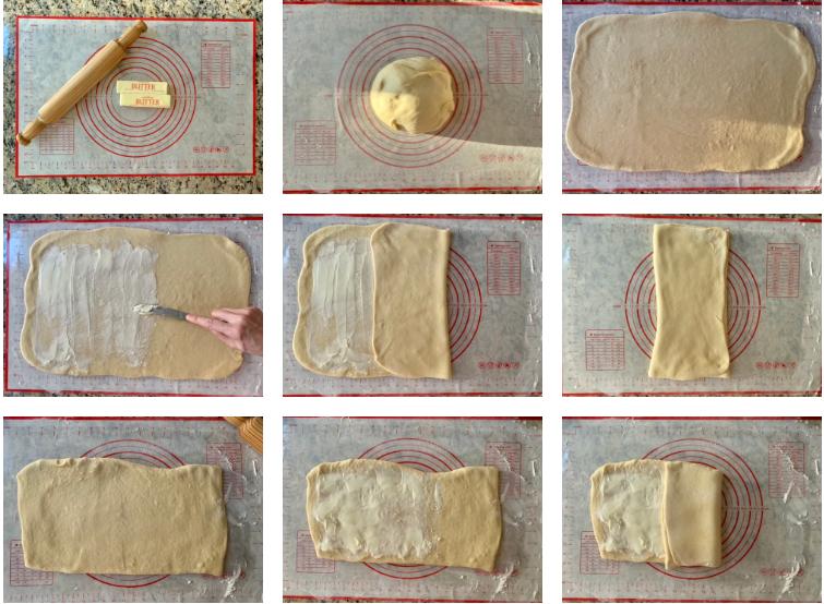 شکل دادن خمیر و پیچیدن دانمارکی ها 1