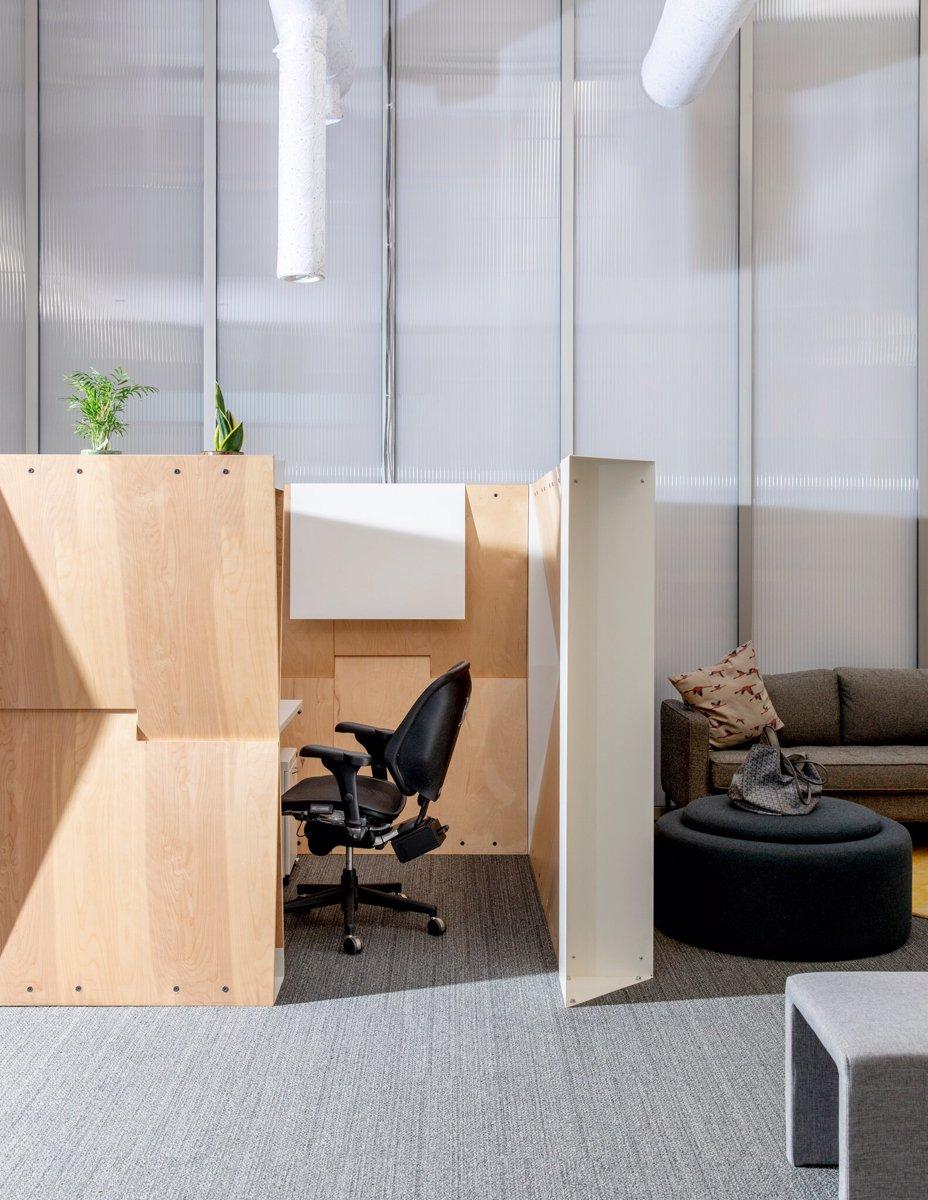 مفهومی گرمایش و تهویه در آزمایشگاه تحقیق و توسعه دفتر گوگل که باعث می شود تا هوا به خوبی جریان داشته باشد و با طرح های جدید سازگار شوند.