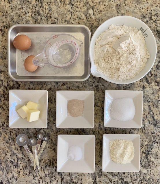 مواد لازم برای خمیر  دانمارکی