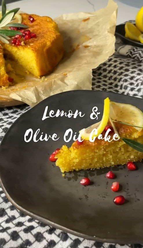 کیک لیمو و روغن زیتون
