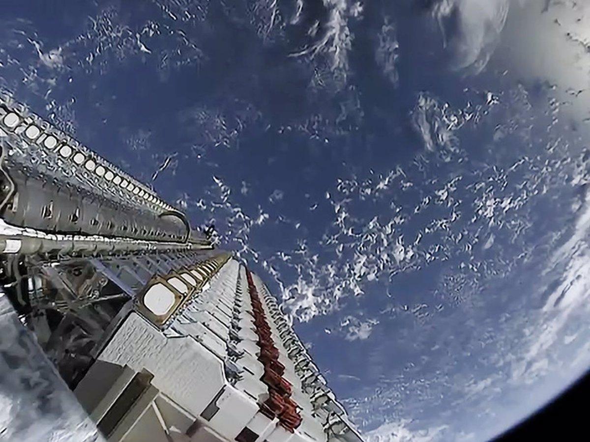 60 ماهواره استارلایک SpaceX