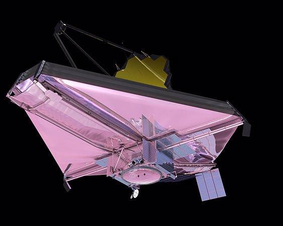 نمای سپر خورشیدی تلسکوپ فضایی جیمز وب از زیر